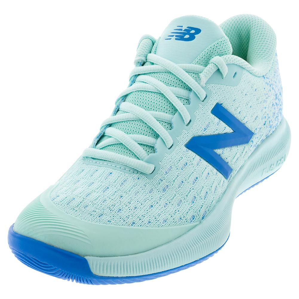 Women's Fuelcell 996v4 B Width Tennis Shoes Bali Blue And Vision Blue