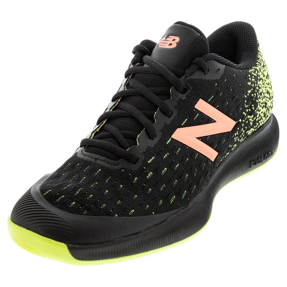 Women's Fuelcell 996v4 B Width Tennis Shoes Black And Lemon Slush