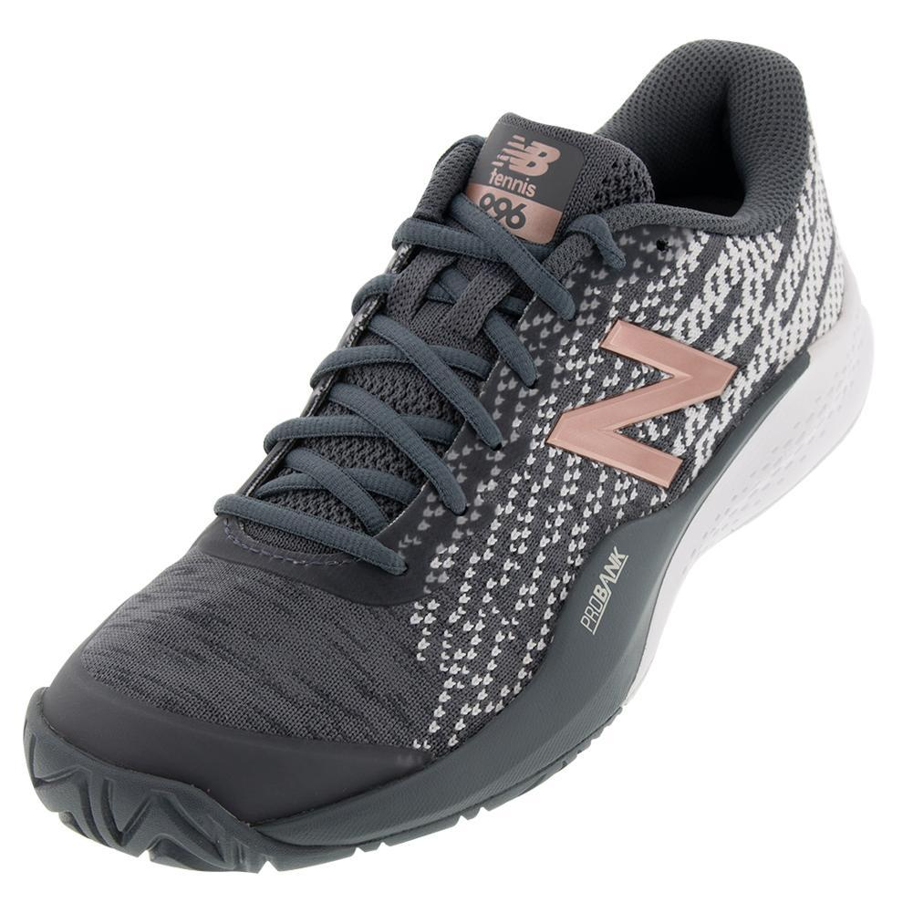 best service 06939 72362 New Balance Women s 996v3 B Width Tennis Shoes Black and Champagne