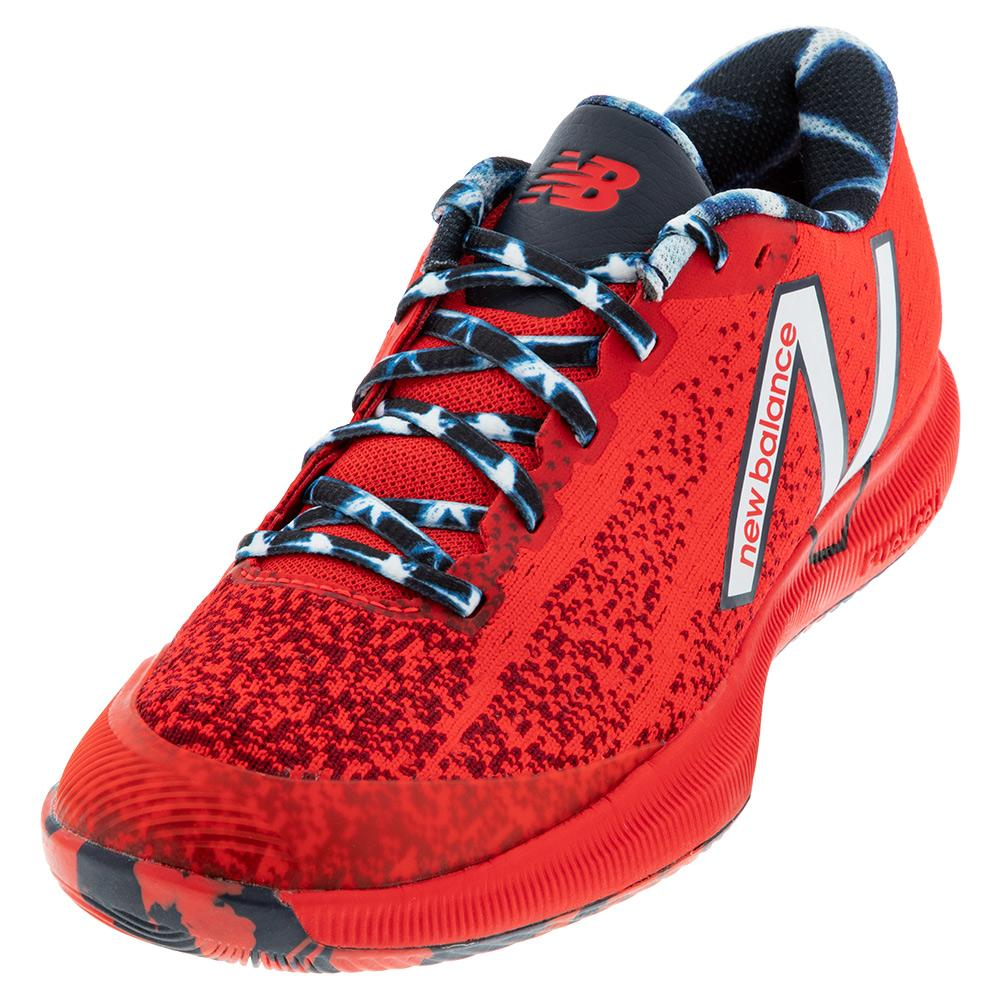 Women's 996v4.5 B Width Tennis Shoes Red And Navy