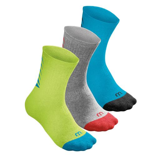 Youth Seasonal Core Crew Tennis Sock 3 Pack Hawaiian Ocean And Lime Punch