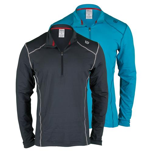 Men's Nvision Zip Neck Long Sleeve Tennis Top