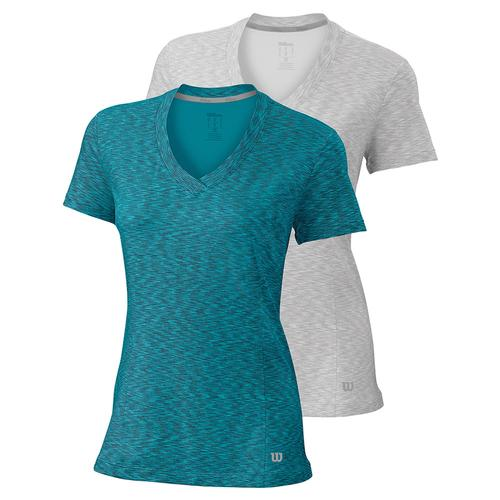 Women's Striated Cap Sleeve Tennis Top