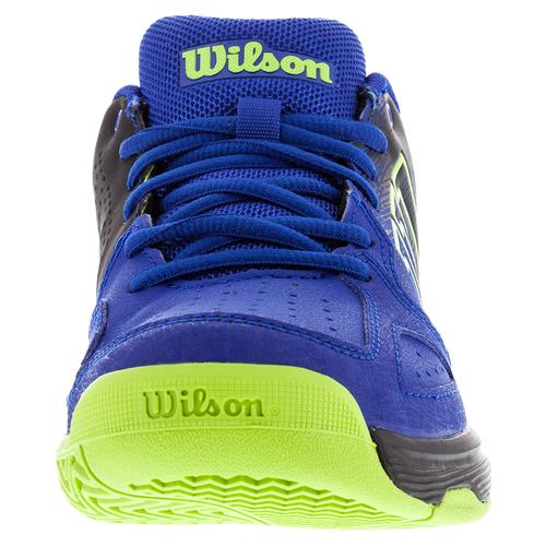 68d3a2af317 WILSON Juniors` Kaos Comp Tennis Shoes Blue Iris and Black ...