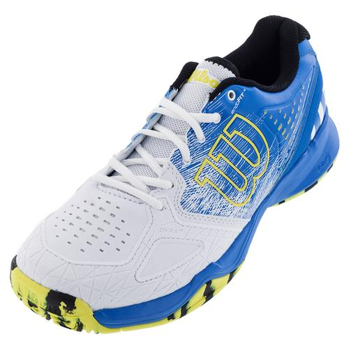Men's Kaos Comp Tennis Shoes Bright Blue And White