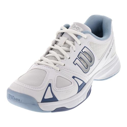 Women's Rush Evo Tennis Shoes White And Stonewash