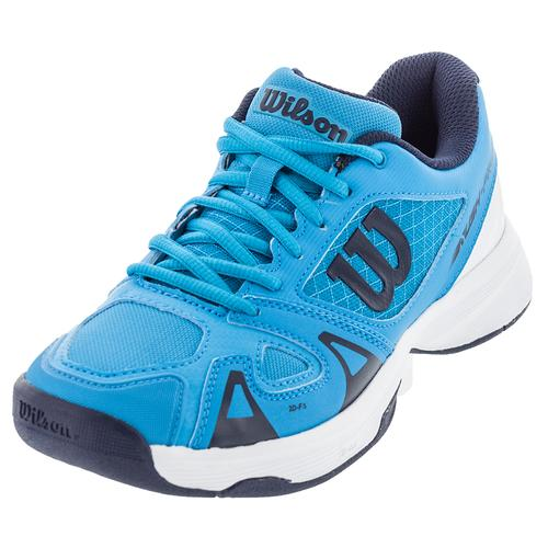 Juniors ` Rush Pro 2.5 Tennis Shoes Hawaiian Ocean And White