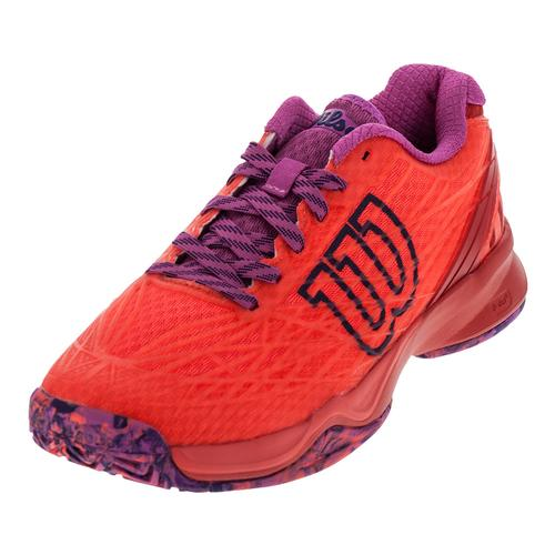 Women's Kaos Tennis Shoes Fiery Coral And Fiery Red