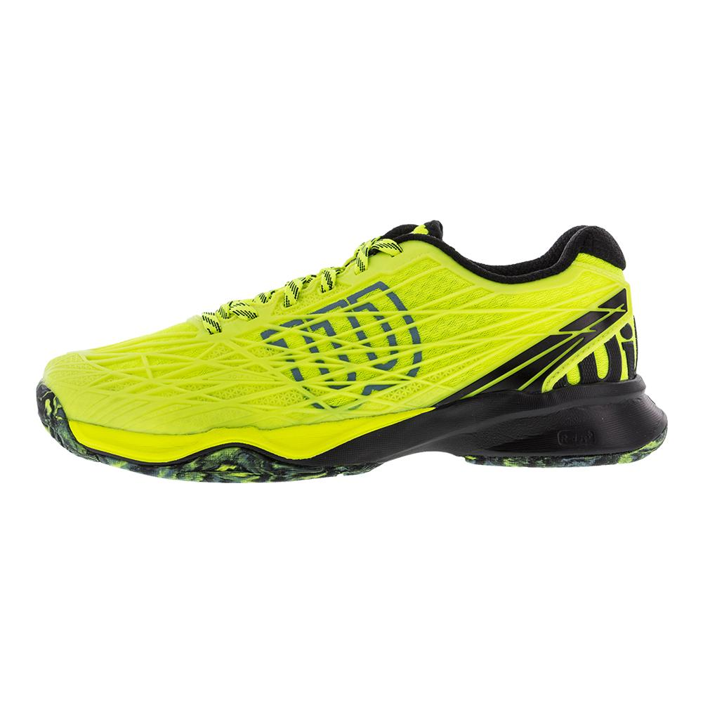 wilson s kaos all court tennis shoes in safety yellow
