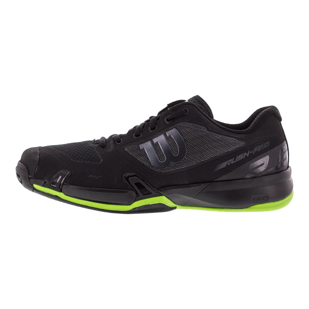 Wilson Men\'s Rush Pro 2.5 All Court Tennis Shoes in Black and Blade ...