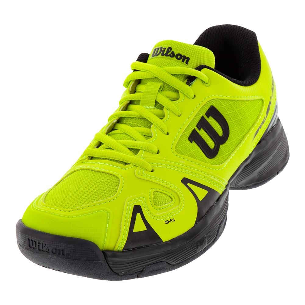 Juniors ` Rush Pro 2.5 Tennis Shoes Acid Lime And Black