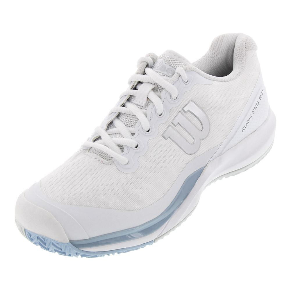 Women's Rush Pro 3.0 Tennis Shoes White And Cashmere Blue
