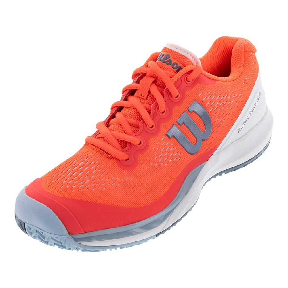 99519df287d0 Women s Rush Pro 3.0 Tennis Shoes Fiery Coral And White