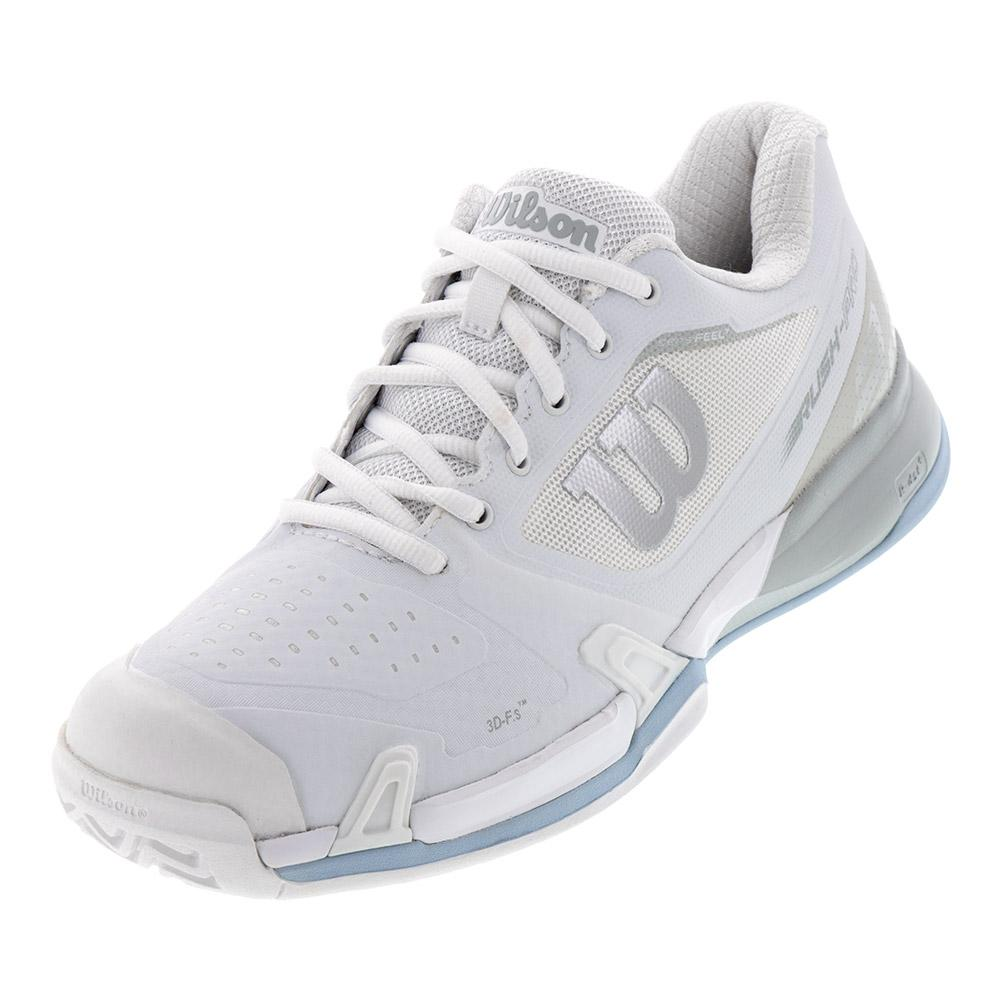 the latest 1e463 9d20f Wilson Women s 2019 Rush Pro 2.5 Tennis Shoes White and Pearl Blue
