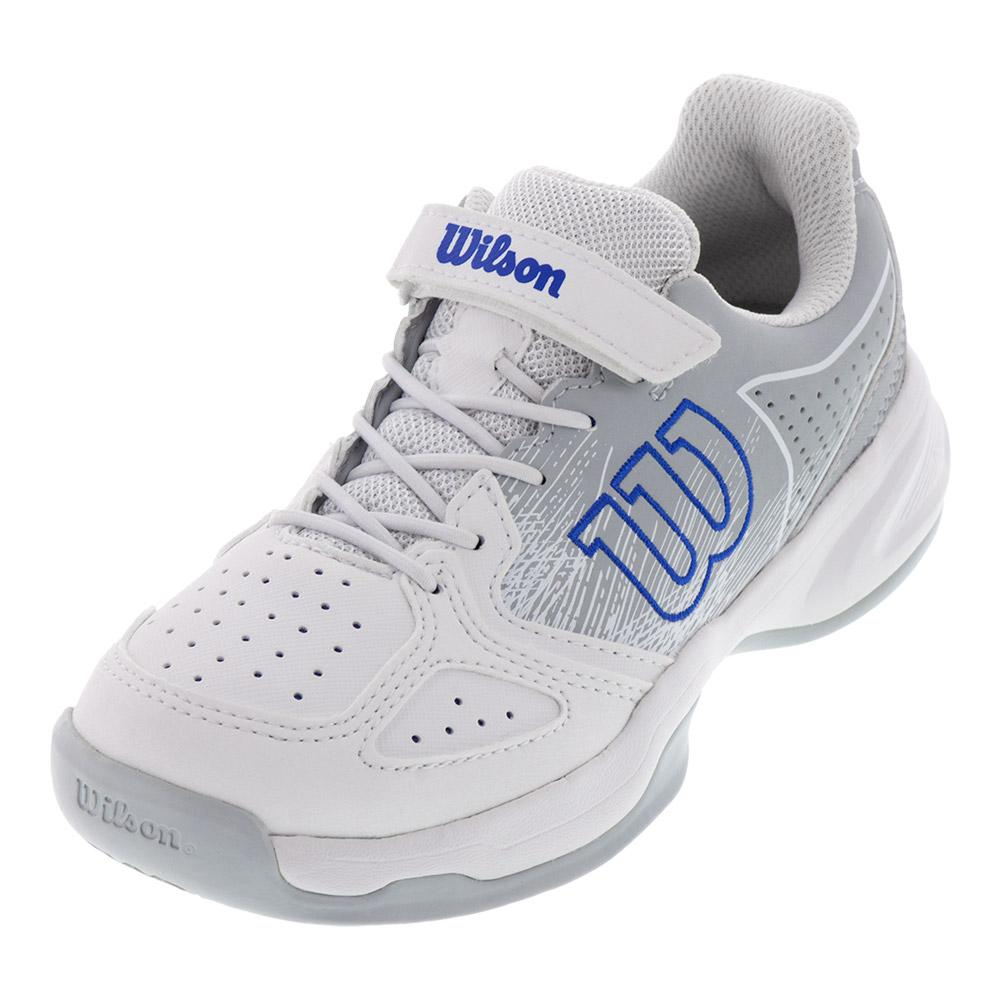 Juniors ` Kaos Tennis Shoes White And Pearl Blue