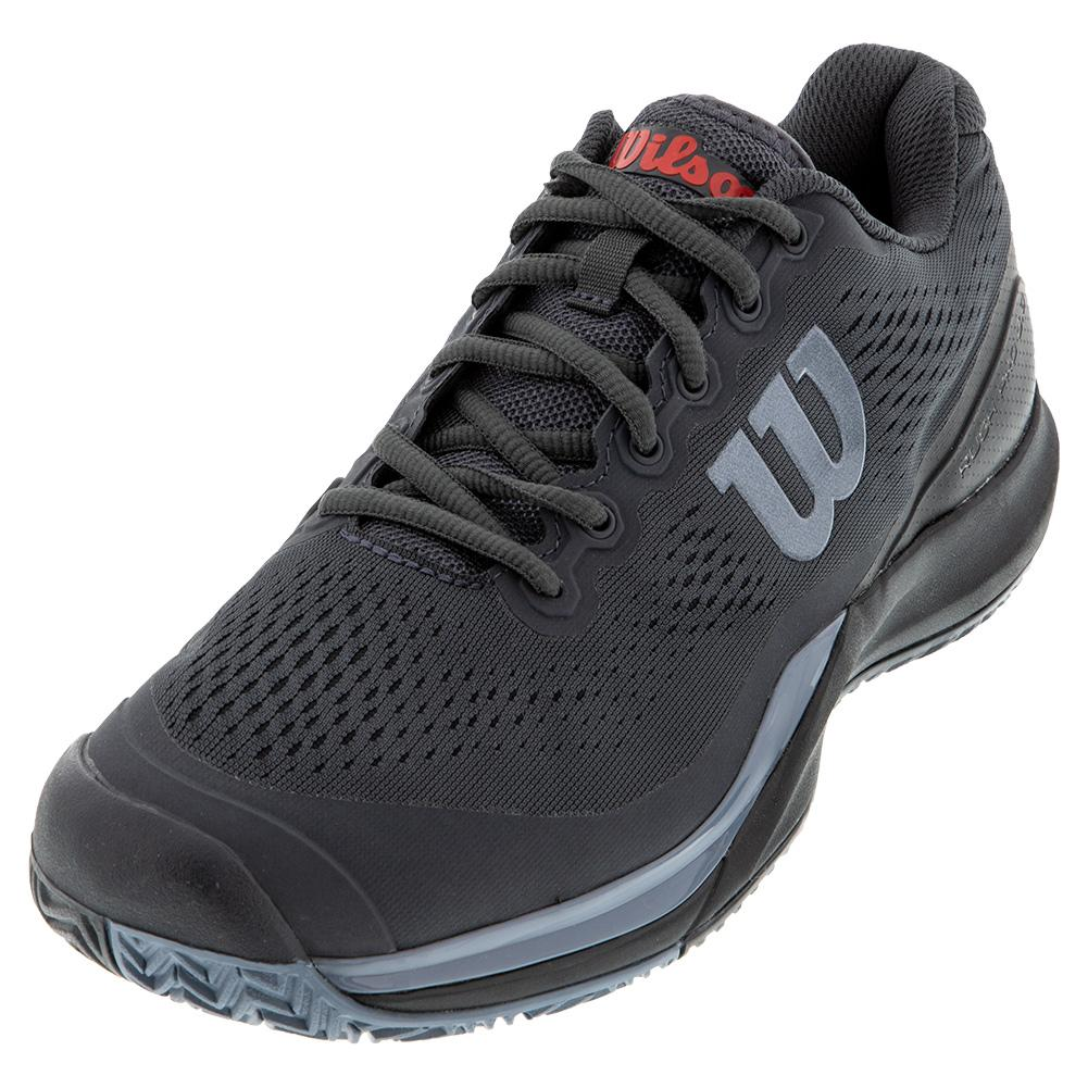 Men's Rush Pro 3.0 Tennis Shoes Ebony And Black