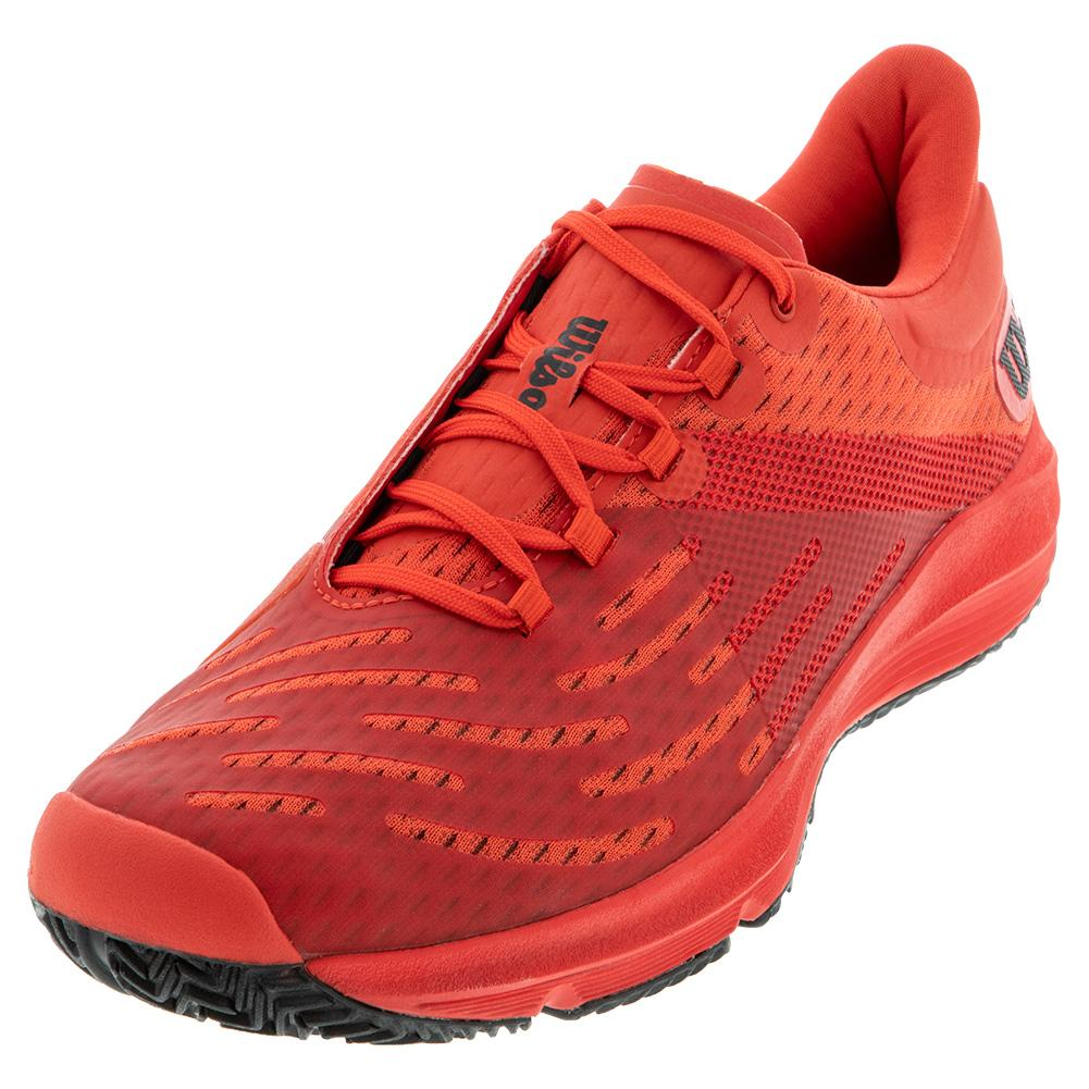Men's Kaos 3.0 Tennis Shoes Infrared Red And Black