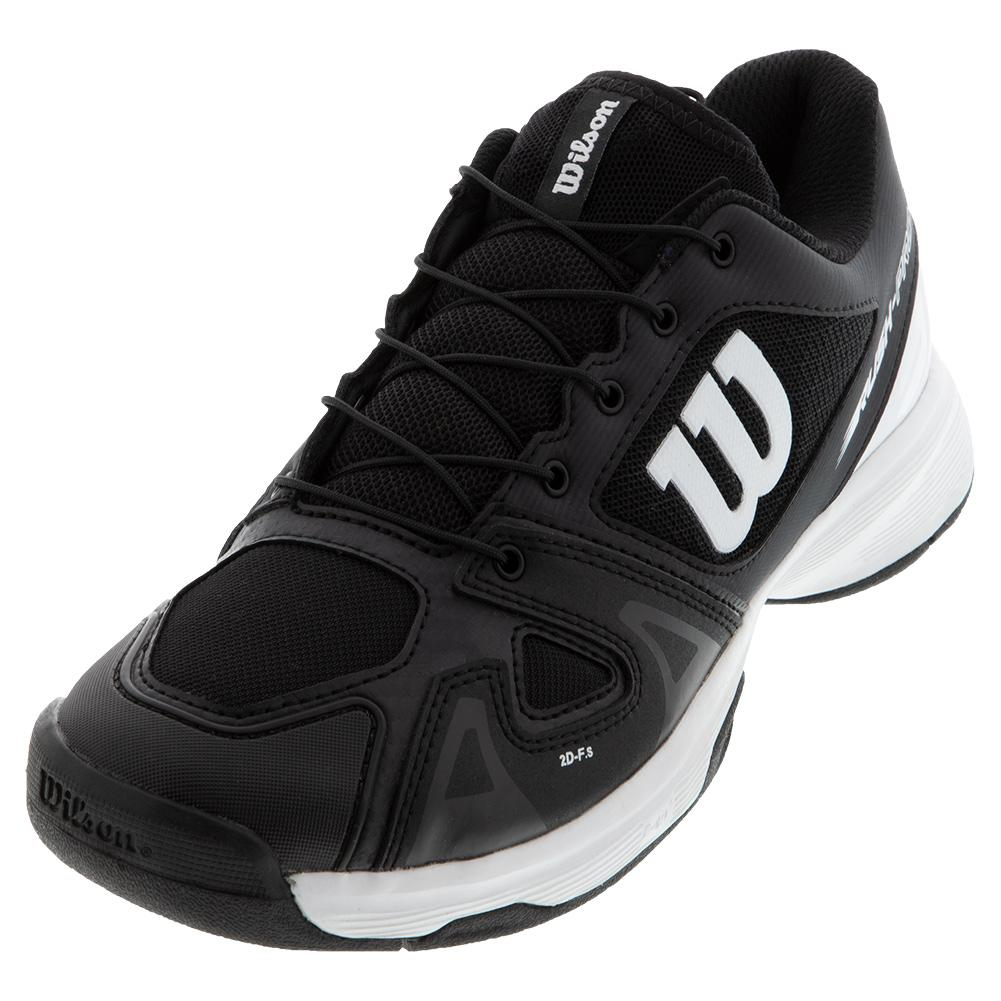 Juniors ` Rush Pro Quick Lace Tennis Shoes Black And White