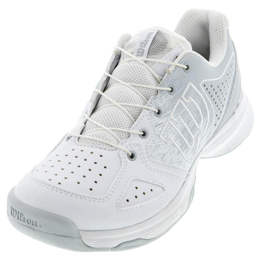 Juniors ` Kaos Ql Tennis Shoes White And Pearl Blue