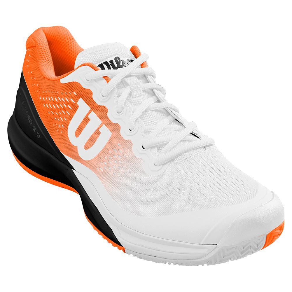 Men's Rush Pro 3.0 Paris Tennis Shoes White And Shocking Orange