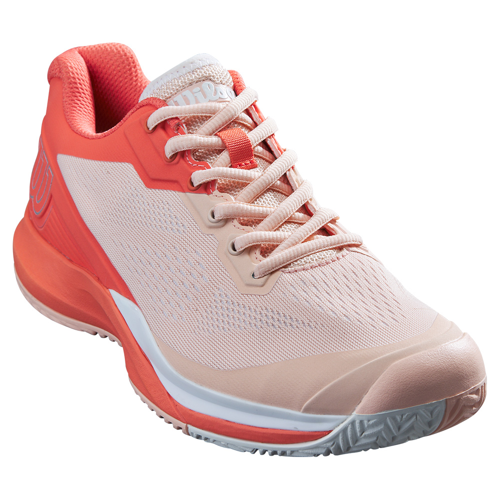 Women's Rush Pro 3.5 Tennis Shoes Tropical Peach And Hot Coral