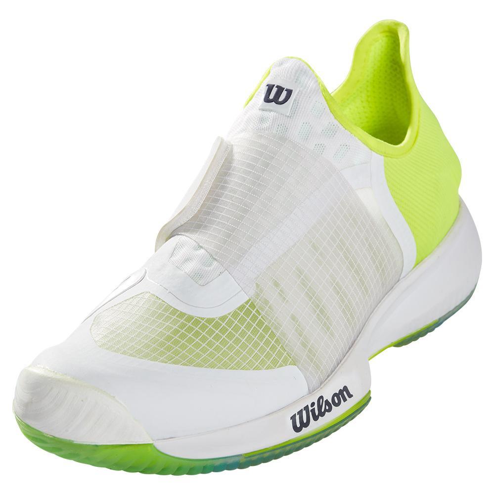Men's Kaos Mirage Tennis Shoes White And Safety Yellow
