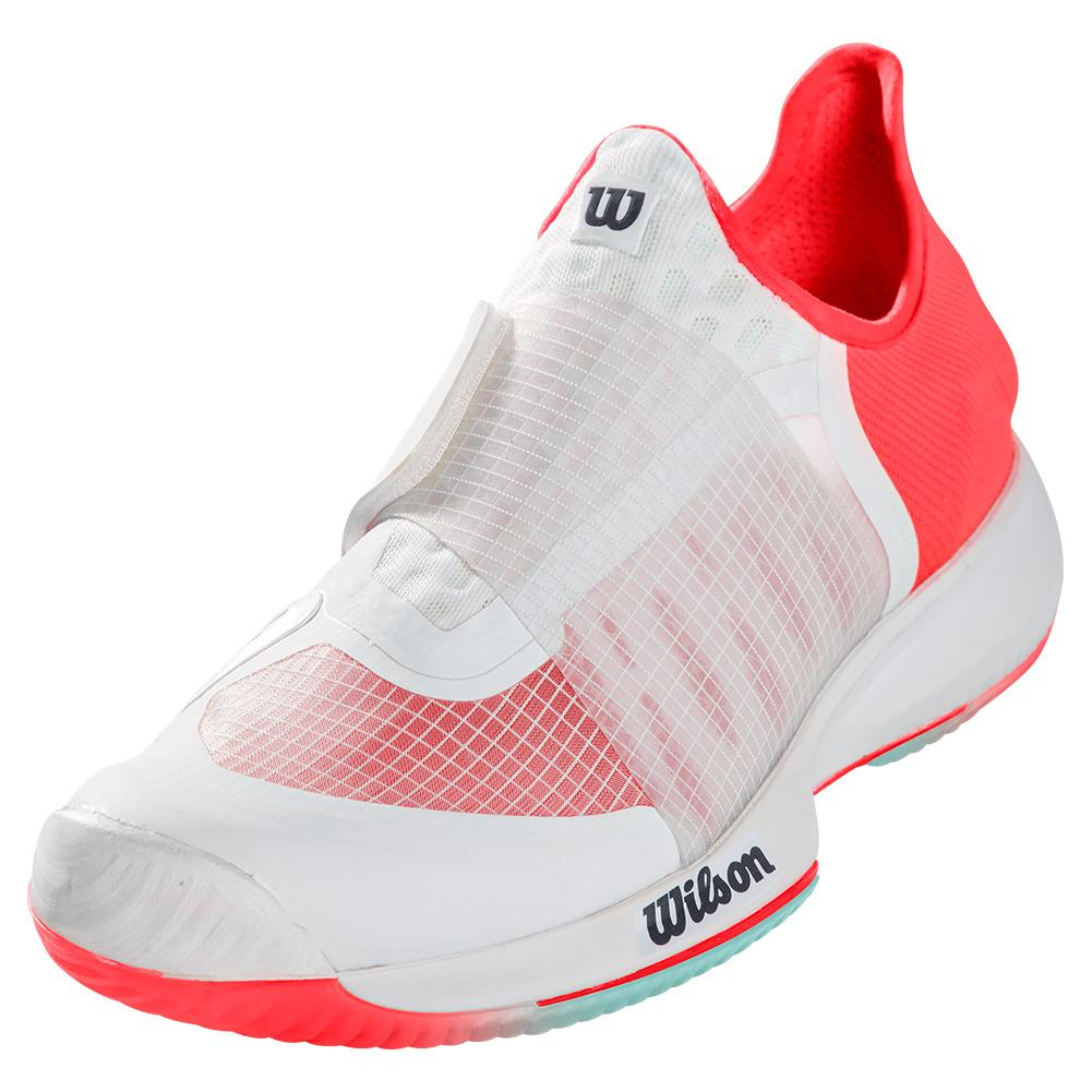 Women's Kaos Mirage Tennis Shoes White And Fiery Coral