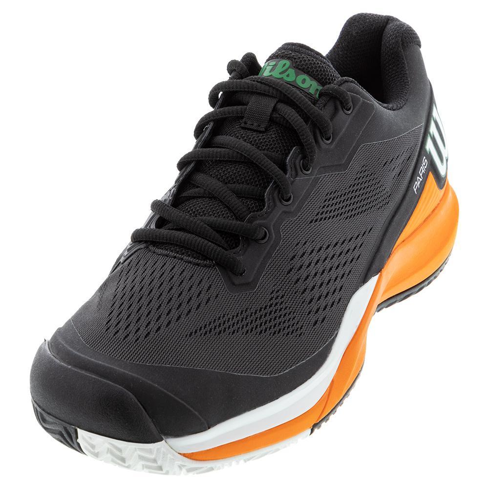Men's Rush Pro 3.5 Paris Tennis Shoes Black And Orange Tiger