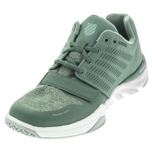 K-SWISS MENS X COURT ATHLSR TNS SHOES DK FRST/GN