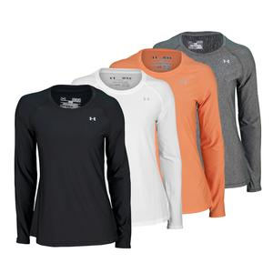 UNDER ARMOUR WOMENS HEATGEAR ALPHA LONG SLEEVE TOP
