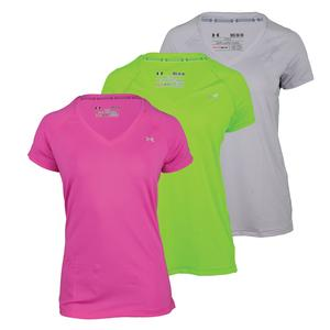 UNDER ARMOUR WOMENS HEATGEAR ARMOUR SHORT SLEEVE TOP