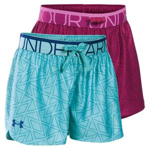 UNDER ARMOUR GIRLS PRINTED PLAY UP SHORT