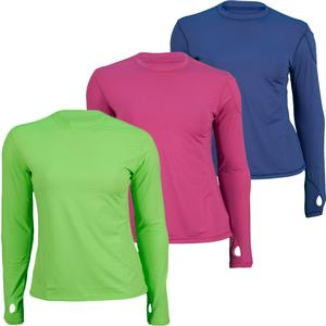 BLOQUV WOMENS 24/7 LONG SLEEVE TENNIS CREW