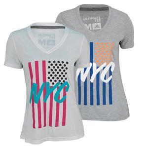 adidas WOMENS NYC FLAG TENNIS TEE
