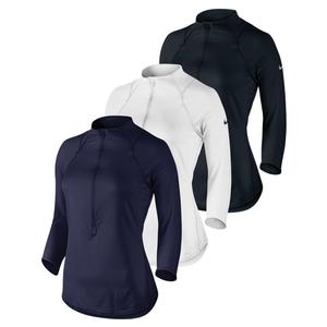 NIKE WOMENS BASELINE HALF-ZIP TENNIS TOP