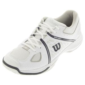WILSON MENS NVISION TENNIS SHOES WHITE/STEEL GY