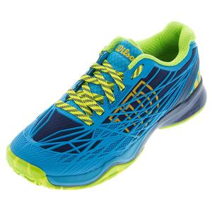 WILSON MENS KAOS TENNIS SHOES NAVY/SCUBA BLUE