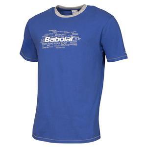 BABOLAT MENS CORE TRAINING TENNIS TEE DARK BLUE