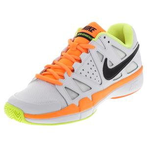 NIKE MENS AIR VAPOR ADV TNS SHOES WHT/VOLT