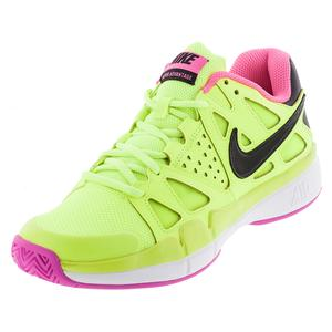 NIKE WOMENS AIR VAPOR ADV TNS SHOES VOLT/PK