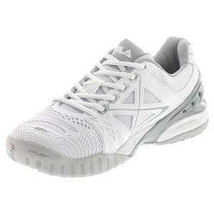 FILA WOMENS CAGE DELIRIUM TNS SHOES WH/SILV