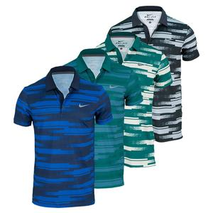NIKE MENS RALLY SPHERE STRIPE TENNIS POLO