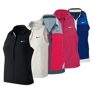 NIKE WOMENS PREMIER SLEEVELESS TENNIS POLO