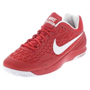 NIKE MENS ZOOM CAGE 2 TENNIS SHOES RD/WH