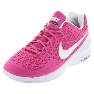 NIKE WOMENS ZOOM CAGE 2 TENNIS SHOES PK/WH