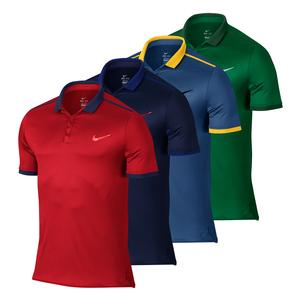 NIKE MENS ADVANTAGE SOLID TENNIS POLO
