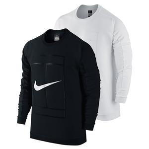 NIKE MENS COURT LONG SLEEVE TENNIS CREW