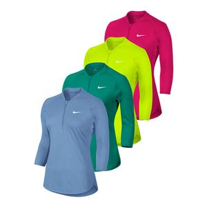 NIKE WOMENS COURT LONG SLEEVE DRY TENNIS TOP