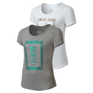 NIKE GIRLS FREQUENCY JUST DO IT TEE