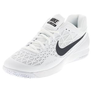 NIKE MENS ZOOM CAGE 2 TNS SHOES WHITE/BLACK